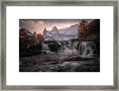 Autumn Sunset Framed Print by Daniel Cooley