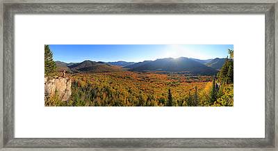 Autumn Sunset Over The Pemi Framed Print
