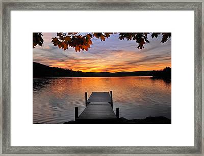 Autumn Sunset Framed Print by Thomas Schoeller