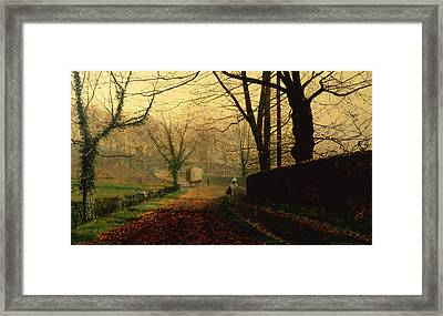 Autumn Sunshine Stapleton Parknear Pontefract  Framed Print by John Atkinson Grimshaw