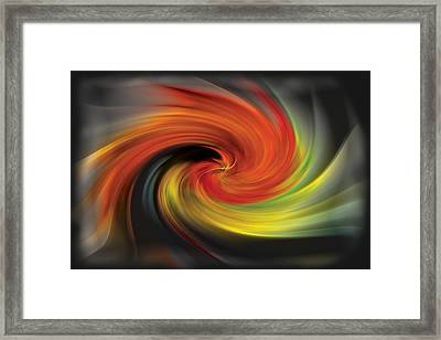 Autumn Swirl Framed Print by Debra and Dave Vanderlaan