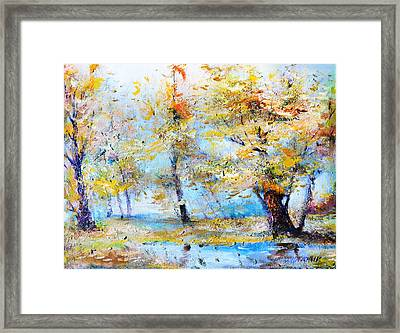 Autumn Tenderness Framed Print by Oleg  Poberezhnyi