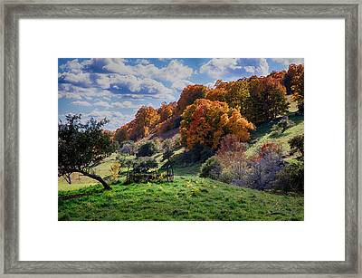 Autumn This Side Of Heaven Framed Print by Jeff Folger