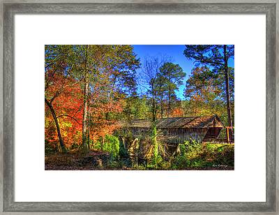 Autumn Time Concord Covered Bridge Art Framed Print