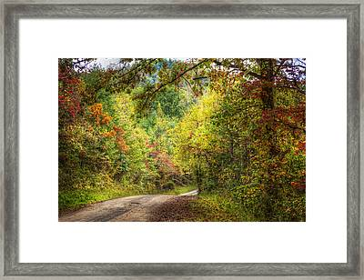 Autumn Tour Framed Print by Debra and Dave Vanderlaan