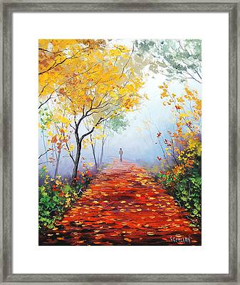 Autumn Trail Framed Print by Graham Gercken