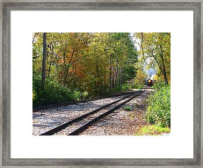 Autumn Train Framed Print