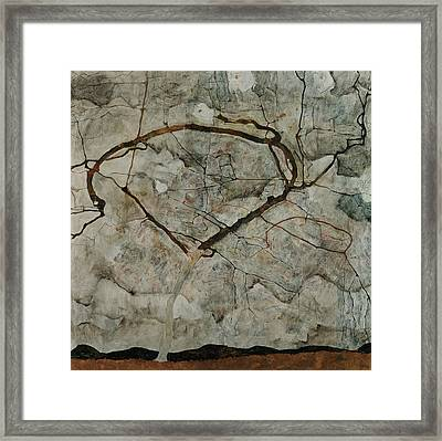 Autumn Tree In Stirred Air Framed Print