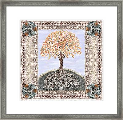 Autumn Tree Of Life Framed Print by Lise Winne