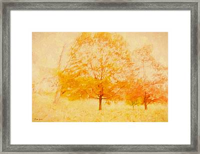 Autumn Trees Abstract Framed Print