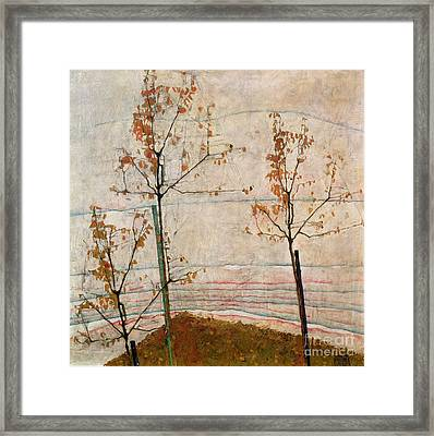 Autumn Trees Framed Print by Egon Schiele