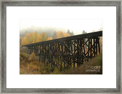 Autumn Trestle Framed Print