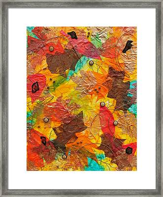 Autumn Leaves Underfoot Framed Print by Michele Myers