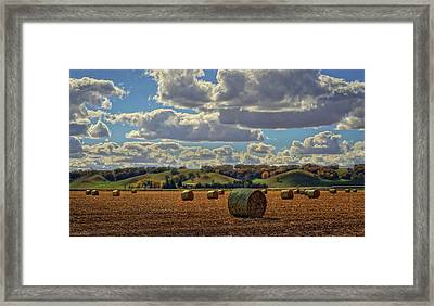 Autumn Valley Bales Framed Print