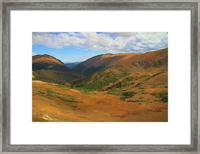 Autumn Valley From The Top Of Trail Ridge Road Framed Print by Dan Sproul