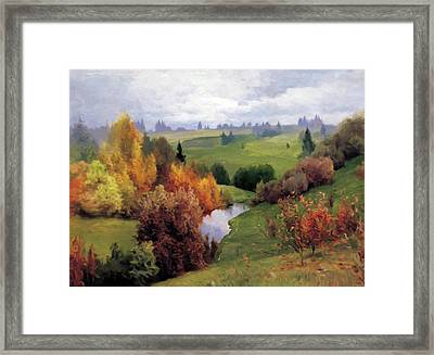 Autumn Valley Of Dreams Framed Print