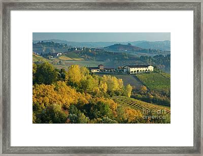 Autumn Valley - Piemonte Framed Print