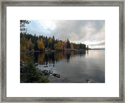 Framed Print featuring the photograph Autumn View 1 by Sami Tiainen
