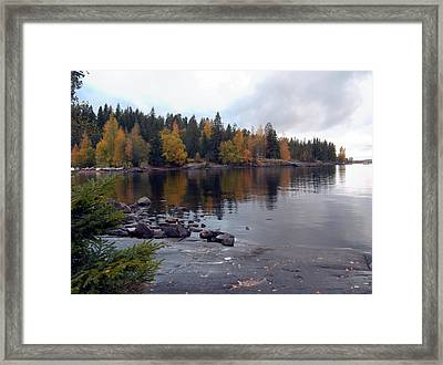 Framed Print featuring the photograph Autumn View 2 by Sami Tiainen