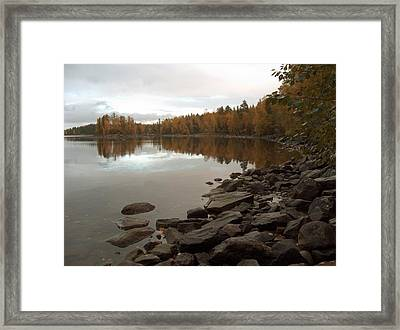 Framed Print featuring the photograph Autumn View 5 by Sami Tiainen