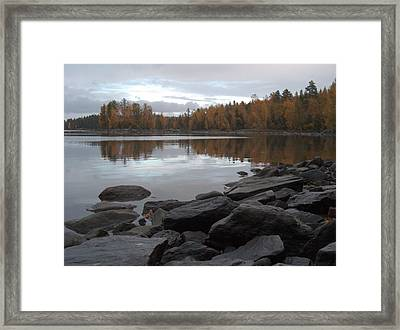 Framed Print featuring the photograph Autumn View 6 by Sami Tiainen