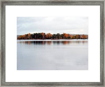 Framed Print featuring the photograph Autumn View 7 by Sami Tiainen