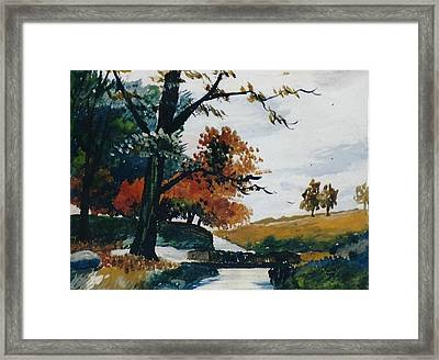 Autumn View Framed Print by Anne-elizabeth Whiteway