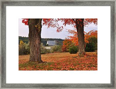 Autumn View Framed Print by Luke Moore