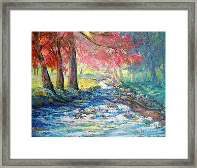 Autumn View Of Bubbling Creek Framed Print