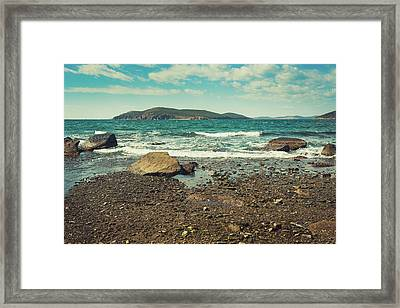 Autumn View Of The Bay Framed Print