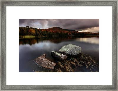 Framed Print featuring the photograph Autumn Visit by Mike Lang