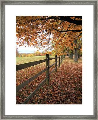 Framed Print featuring the photograph Autumn Vista In Virginia by Don Struke