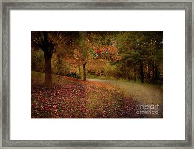 Framed Print featuring the photograph Autumn Walk by Elaine Manley