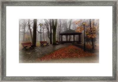 Autumn Walk In The Park Framed Print by Movie Poster Prints