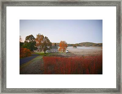 Framed Print featuring the photograph Autumn Walk In Valley Forge by Bill Cannon