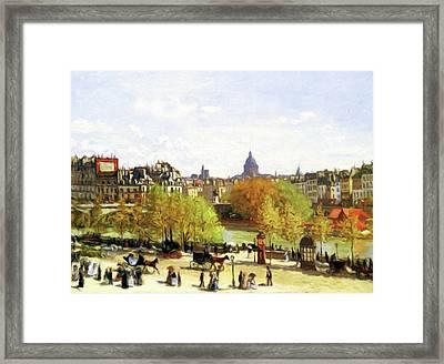 Autumn Walk On The Promenade Framed Print