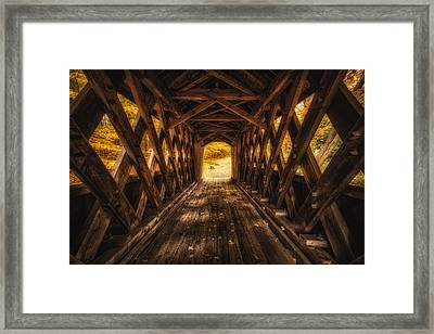 Framed Print featuring the photograph Autumn Walk by Robert Clifford