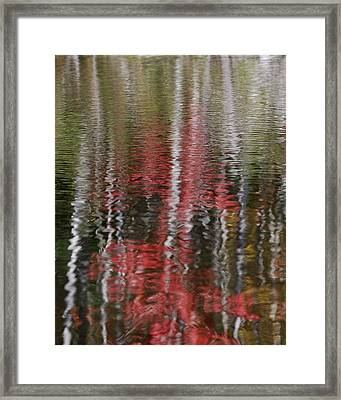 Framed Print featuring the photograph Autumn Water Color by Susan Capuano