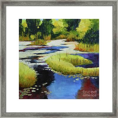 Autumn Water Garden 2 Framed Print