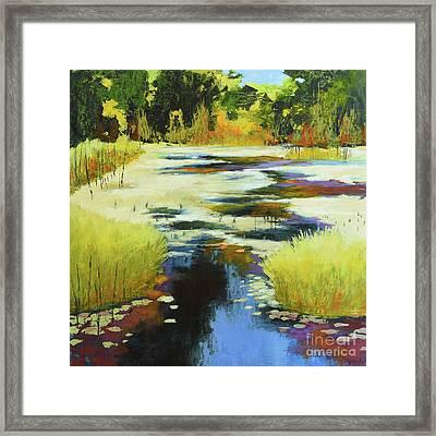Autumn Water Garden Framed Print