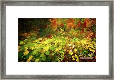 Autumn Watercolor Framed Print