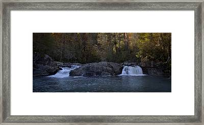 Framed Print featuring the photograph Autumn Waterfall  by Ellen Heaverlo
