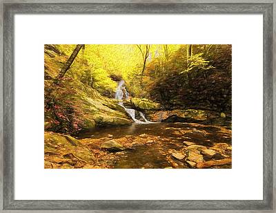 Autumn Waterfall In The Smokies Framed Print by Dan Sproul