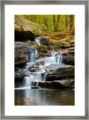 Autumn Waterfall Framed Print by Shelby  Young
