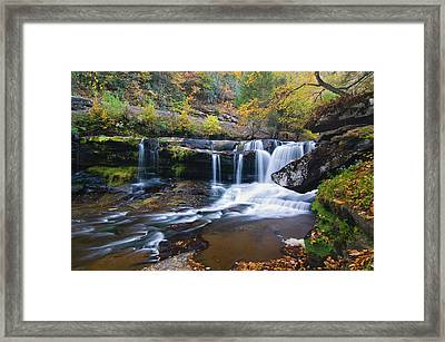 Framed Print featuring the photograph Autumn Waterfall by Steve Stuller