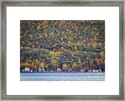 Autumn Waterside Framed Print