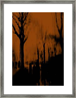 Autumn Wet Day Framed Print by Dr Loifer Vladimir