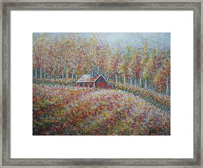 Framed Print featuring the painting Autumn Whisper. by Natalie Holland