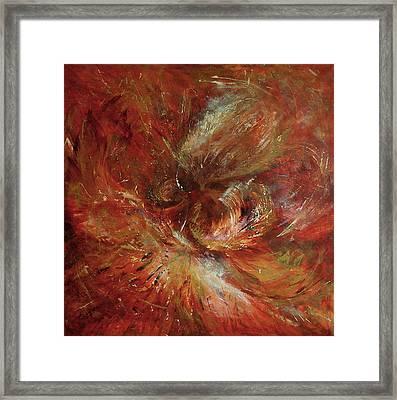 Autumn Wind Framed Print by Aneta  Berghane