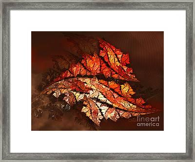 Autumn Wind Framed Print by Jutta Maria Pusl
